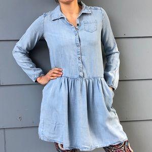 Denim Shirt Dress Small Cherokee  long sleeve